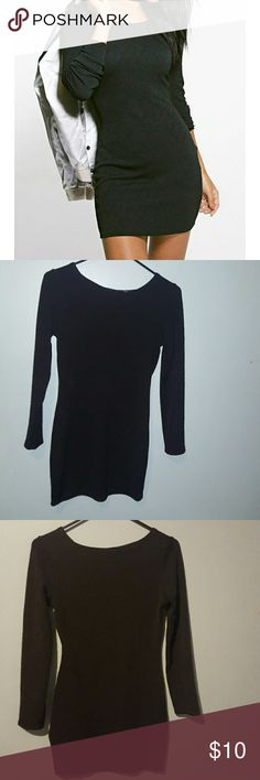 Black dress Long sleeve black dress. Soft, form fitting, worn once, good condition. Dresses Long Sleeve