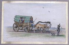 Adriaen Pietersz. van de Venne (ca. 1589-1662). Met de huifkar naar het strand van Scheveningen. (Bron: Costume-history.livejournal.com)