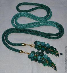 """Купить Лариат """"Изумруд"""" - изумрудный цвет, украшения ручной работы, украшение, украшение на шею, Бижутерия"""