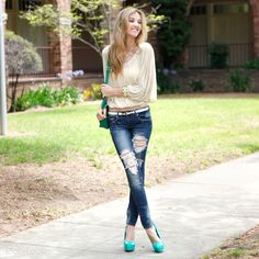 Check out Get Her To The Green Look By Machine Jeans and Glaze at DailyLook