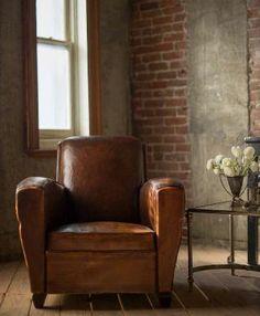 found rentals | leather club chair