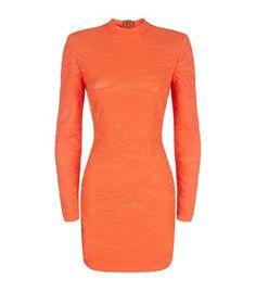 BALMAIN Tiger Knit Mini Dress. #balmain #cloth #