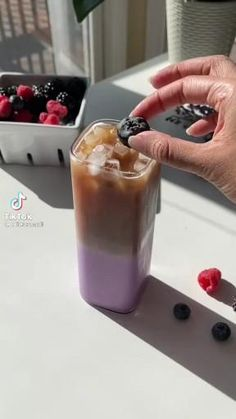 Smoothie Drinks, Healthy Smoothies, Healthy Drinks, Smoothie Recipes, Fun Baking Recipes, Tea Recipes, Cooking Recipes, Yummy Drinks, Yummy Food