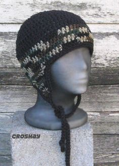 crochet mens with ear flaps | FREE CROCHET EAR FLAP HAT PATTERN | FREE PATTERNS