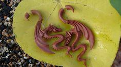 Fake Gauge Earrings  Organic Wood Chinese Luck Dragon by ANELAJADE, $35.00