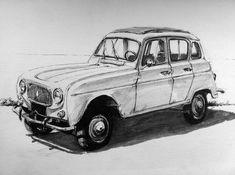 Renault 4 par Amaury Brumauld
