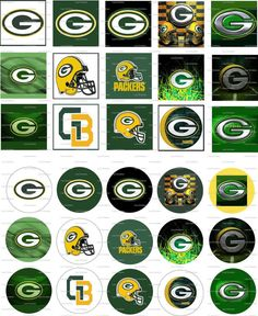 Green Bay Packers Digital Collage 1 inch / 75 by LisaChristines, $1.50