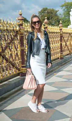 Look Sport Couture: Saia Lápis + Jaqueta
