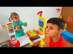 Kids playing Fruit Store - Learn Colors & sizes with Fruits and Toys for Kids Children - YouTube