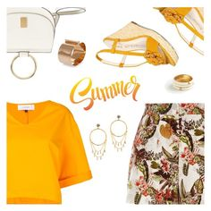 """""""Summer Look"""" by dressedbyrose ❤ liked on Polyvore featuring River Island, Le Ciel Bleu, MANGO, Anne Klein, Dsquared2, Gorjana, Ann Taylor, Summer, ootd and Dailylook"""