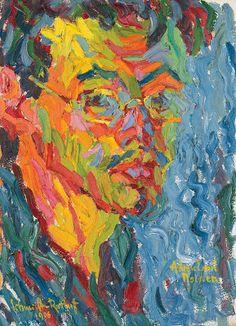 Karl Schmidt-Rottluff (1884-1976), Self-Portrait, 1906; Oil on canvas, 44 x 32 cm; Nolde Stiftung, Seebüll