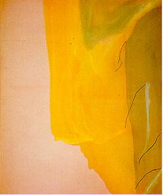 """We're spending March celebrating women in art-- here are some of contributor Erica Quinn's favorite pieces. (Helen Frankenthaler's """"The Spiritualist"""")"""