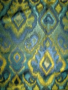 """I love textiles! This fabric is called """"Sagamore Peacock."""""""
