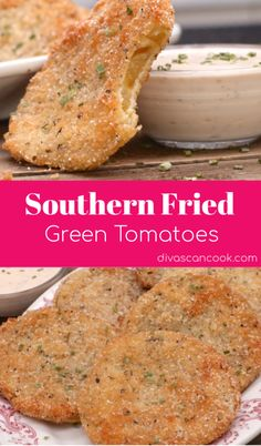 all recipes comfort food: Southern Fried Green Tomato Recipe Green Tomato Recipes, Vegetable Recipes, Recipe For Green Fried Tomatoes, Recipes For Tomatoes, Spinach Recipes, Veggie Food, Def Not, Snacks Für Party, Fries In The Oven