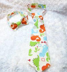 Handmade Dinosaurs adjustable child necktie / by ATARAHSCREATIONS, $5.00