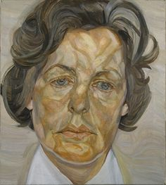 """""""Woman in a White Shirt"""" by Lucian Freud. """"Ninety-six percent of his work were portraits,"""" said curator Michael Auping. Of the exhibition """"Lucian Freud: Portraits,"""" Auping said, """"In a sense this is a retrospective. Lucian Freud Paintings, Lucian Freud Portraits, Sigmund Freud, Female Portrait, Portrait Art, Rembrandt Portrait, Woman Portrait, Portrait Paintings, George Grosz"""