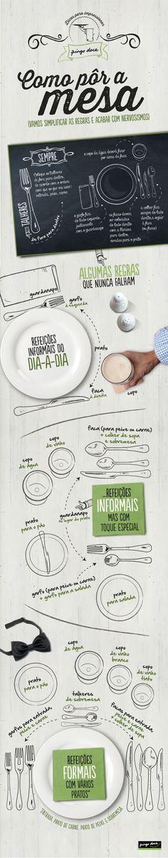 Infografias Pingo Doce: Como pôr a mesa numa festa