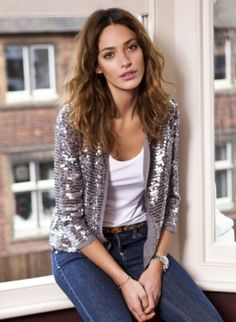 Sparkly jacket from Isabella Oliver - love it for summer nights with the girls!