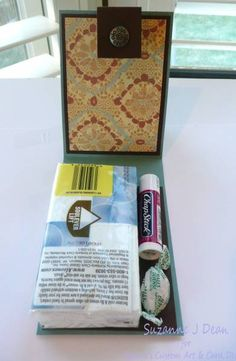 Get Well Gift Set--tissue pack holder ...what a great idea for the winter for the Congregation!