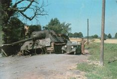 German World War 2 Colour Shot Hunting Tiger Tanks