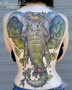 Stupendous elephant tattoo