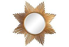 Etoile Burst Mirror | Vanity Mirror Co. Spectacular gold starburst mirror - perfect for Hollywood Regency decor.
