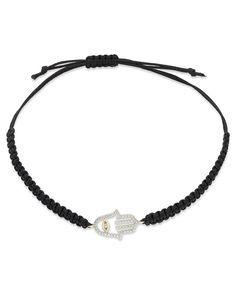 YellOra™ Diamond Bracelet, YellOra™ Diamond Hamsa Parachute Cord Bracelet (1/6 ct. t.w.) - Bracelets - Jewelry & Watches - Macy's