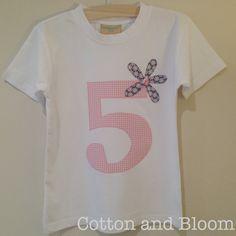 Soft Cotton Short Sleeved TShirt with Appliquéd by CottonandBloom