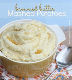 Browned Butter Mashed Potatoes - browning the butter takes just a few extra minutes, but the difference is absolutely delicious!  Try them for the holidays!