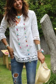 love this Boho Necklace #SilverJewelry