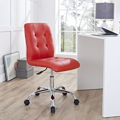 Prim is height adjustable and comes outfitted with a polished chrome steel base with five dual-wheel nylon casters. Perfect for conference rooms, workstations, or desks, Prim is a modern piece that works to further the finer civilities of life.