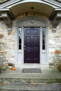 I once said that I painted our front door a pretty eggplant color. And I once said  that I would post a photo of it. That was forever ago. ...