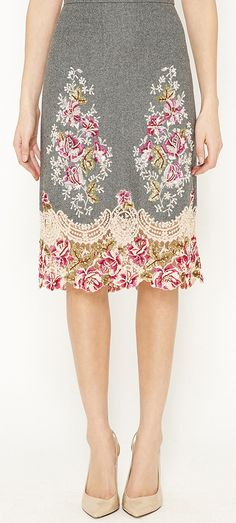 Beautiful floral skirt.