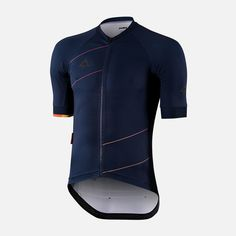 Deep Navy Simple design and delicate accents of orange will guarantee this jersey pairs well with other Podia products. Featuring a dark grey reflective logo to make sure you are seen when collecting those extra kilometres after the sun goes down. Cycling Bibs, Cycling Wear, Cycling Jerseys, Cycling Outfit, Cycling Clothes, Bicycle Clothing, Mesh Long Sleeve, Bicycle Design, Wakeboarding