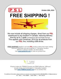 FREE SHIPPING from PSL ! Usb Drive, All Things, How To Apply, Free Shipping, Usb Flash Drive