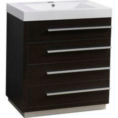 "Bailey 30"" Single Bathroom Vanity Cabinet in Wenge"