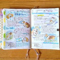 asholicxxx:  いよいよ下半期に突入ですな!! 疲れてて正直面倒なときでも、散歩に出てイヌちゃんの嬉しそうな顔をみると、出てきて良かったと思う小さい幸せ。 #ほぼ日手帳 #hobonichi #planner  #diary #journal #いぬにっき #イヌにち