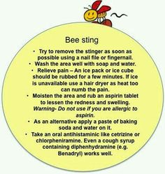 Bee sting removal first aid for kids.  G;)