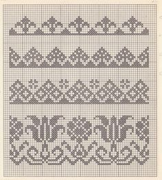Cross Stitch Boarders, Cross Stitch Samplers, Cross Stitch Flowers, Cross Stitch Designs, Cross Stitching, Cross Stitch Embroidery, Cross Stitch Patterns, Fair Isle Knitting Patterns, Knitting Charts