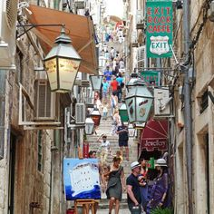 Old town Dubrovnik with charming alleyways