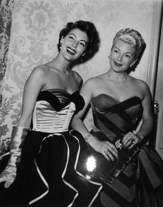 Ava Gardner and Lana Turner - 1952 - Ribbon Hall at the Beverly Hills Hotel