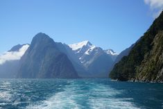 Your ultimate guide for a day trip from Queenstown to Milford Sound. Including scenic stops that you must plan, what cruise to take, the weather and much more. New Zealand South Island, Milford Sound, New Zealand Travel, Day Trip, Cruise, Waterfall, Places To Visit, Explore, World