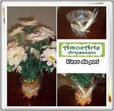 vaso de garrafa pet http://www.amocarte.blogspot.com.br/