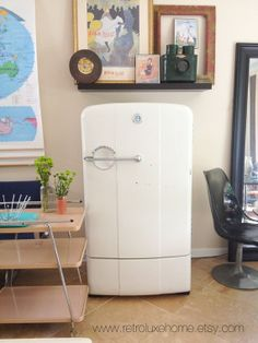 1950's Mid Century Modern Kelvinator Refrigerator by RetroLuxeHome, $1000.00. Sigh. I dreamed a dream in time gone by......