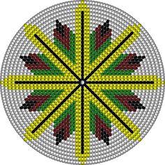Tapestry Crochet Patterns, Crochet Mandala Pattern, Crochet Square Patterns, Bead Loom Patterns, Crochet Stitches Patterns, Native Beading Patterns, Native Beadwork, Native American Beadwork, Mochila Crochet