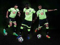 Le Maillot de foot Bournemouth 2017 troisieme beneficie d'un design remarquable qui combine une couleur verte criarde avec garniture noire sous la forme des poignets.