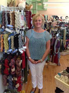 Diana knit Void in Captiva from Berroco