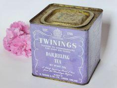 1970s Vintage Twinings Tea Tin ~ Darjeeling Tea by EdenKitsch