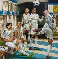 Real Madrid legends - Raúl, Puskas, Di Stefano, Cristiano Ronaldo, Zidane - Mery J Kendy Club Football, Football 2018, Ronaldo Football, Football Is Life, Football Art, Goat Football, Cristiano Ronaldo 7, Messi And Ronaldo, Ronaldo Juventus