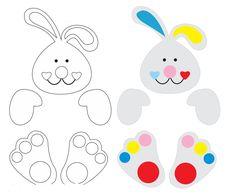 Conejo con dulces para Pascua